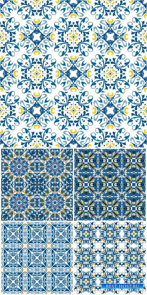 Vector backgrounds with patterns, design elements, vintage ornaments