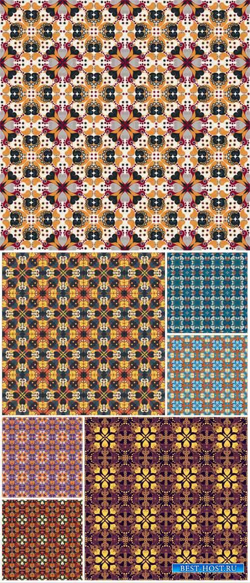 Vintage floral patterns, backgrounds vector