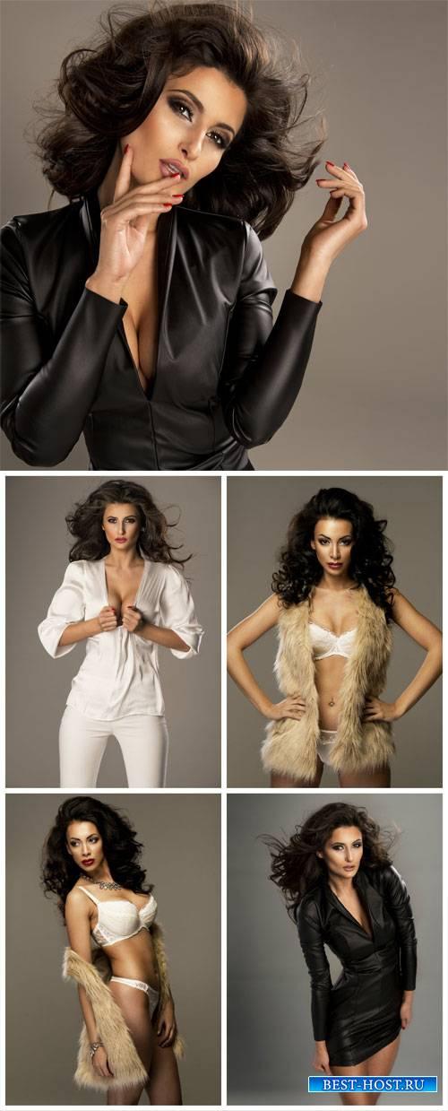 Beautiful women, fashion, style - stock photos