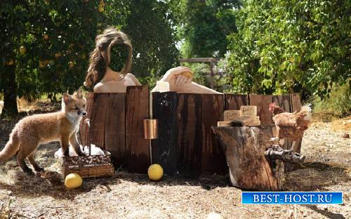 Шаблон женский - Деревенская ванна