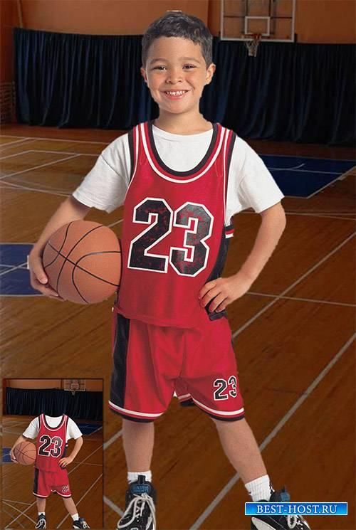 Детский фотошаблон - Будущая звезда баскетбола