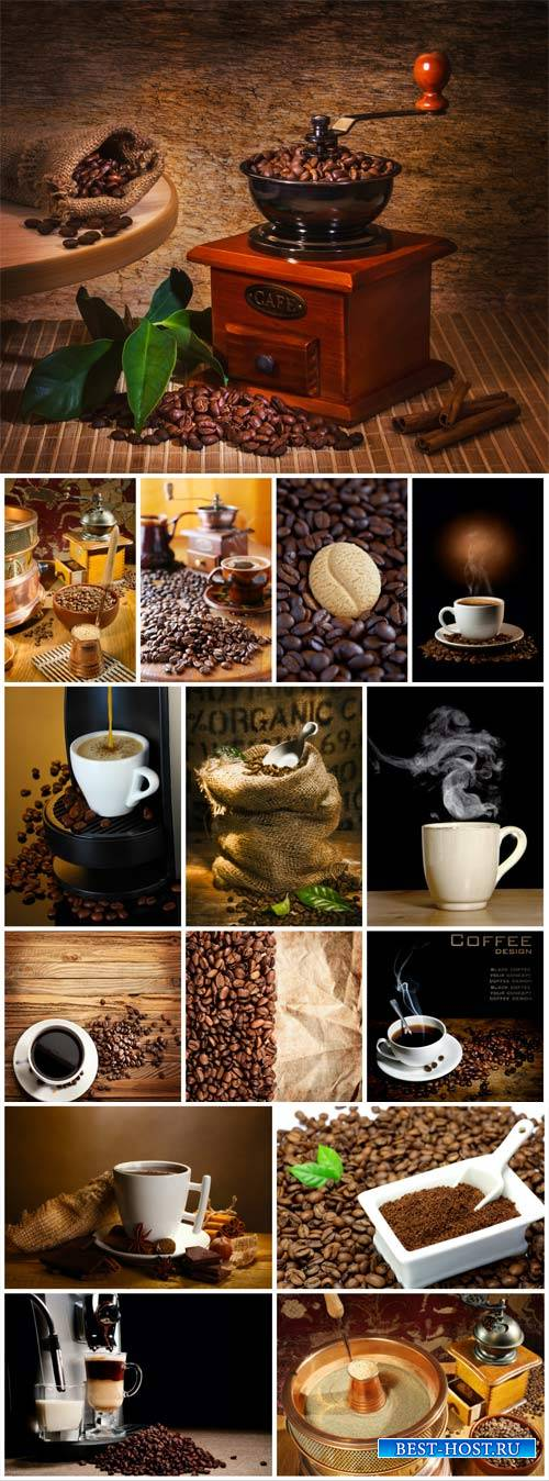 Coffee, coffee beans, cup of coffee - stock photos