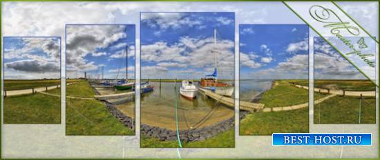 Полиптих psd для фотошопа - Маленькая пристань