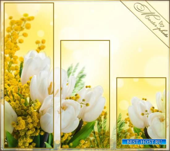 Модульная картинка к 8 Марта - Весенний день