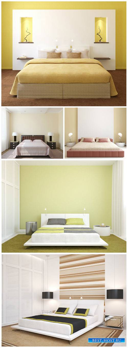 Interior bedroom in modern style - Stock Photo