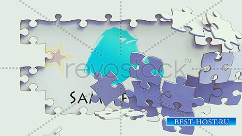 Cartoon Puzzle Breaking Logo Reveal - Project for After Effects (RevoStock)