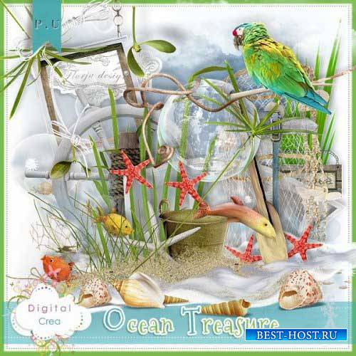 Морской скрап-комплект - Сокровища океана
