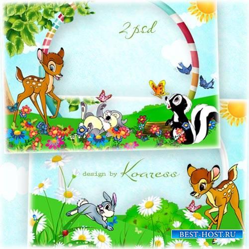 Детские рамки для фото - На цветочной полянке