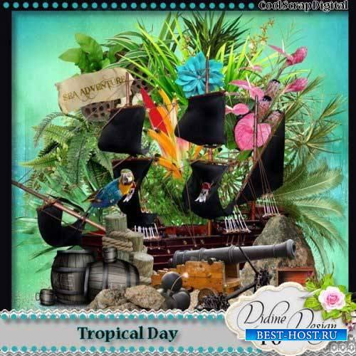 Пиратский скрап-комплект - Тропический денёк