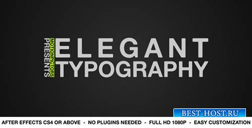 Elegant Typography - Project for After Effects (Videohive)