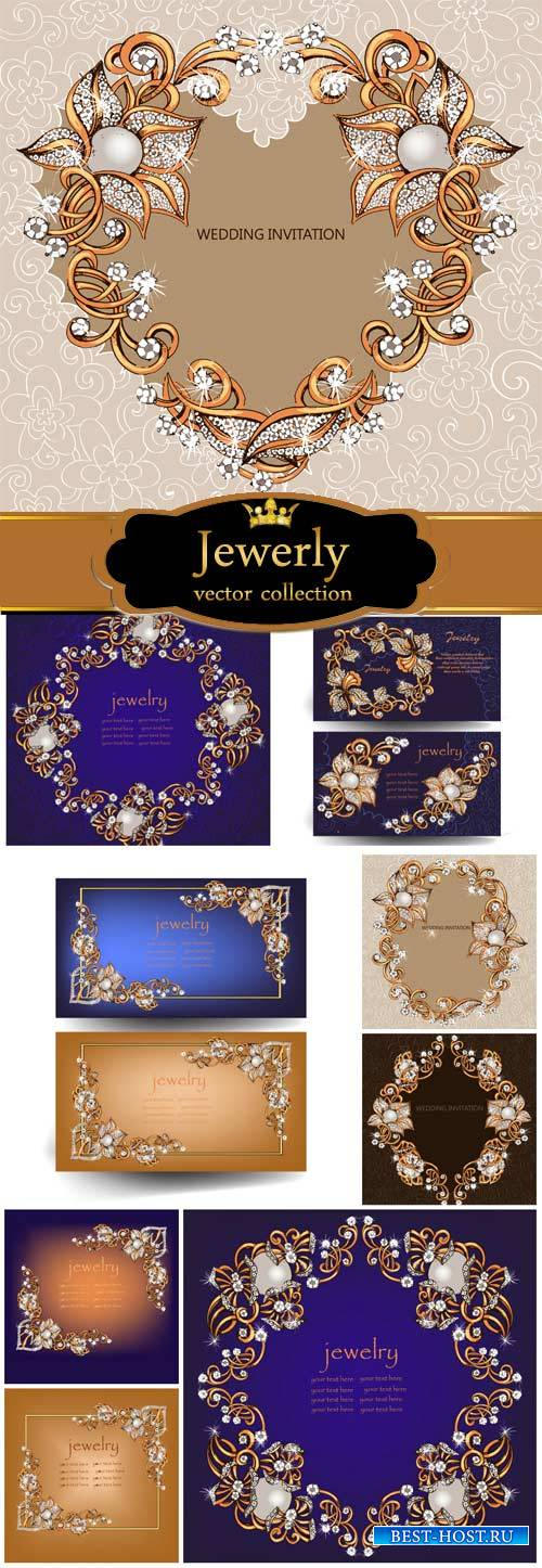 Gold , jewelry, vector backgrounds