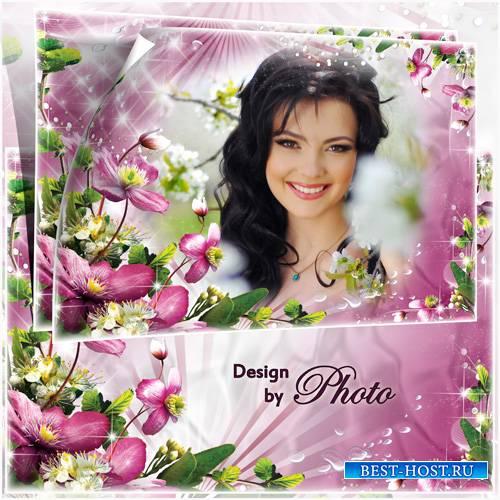Цветочная рамка для фото - Весенняя красота