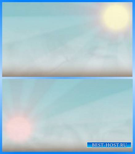 Футажи - Солнце с переливом лучей