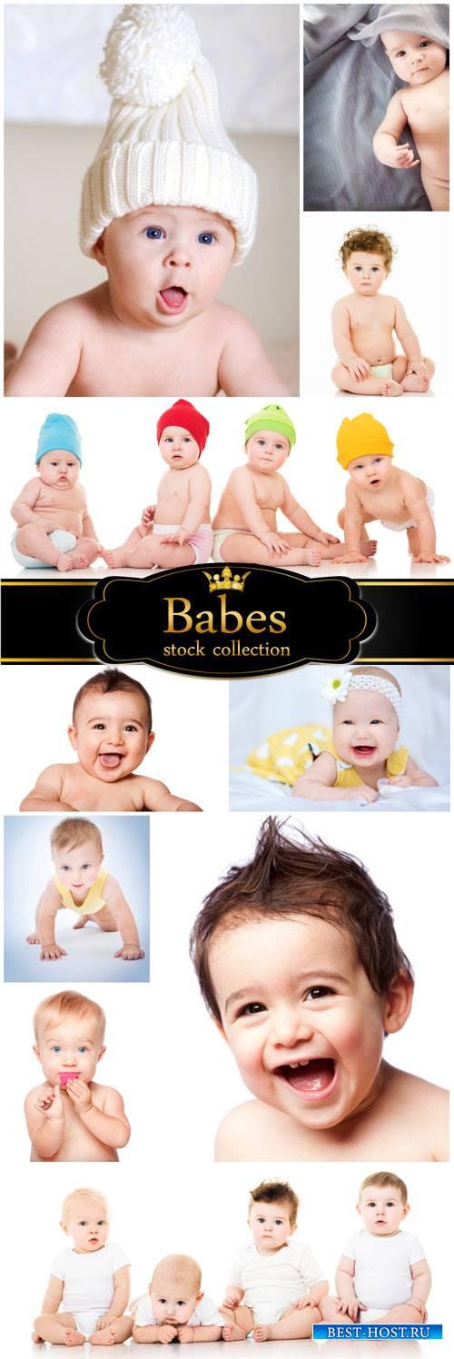 Little kids, boys, girls - stock photos