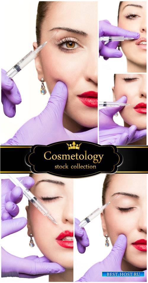 Beauty, Botox injections - stock photos