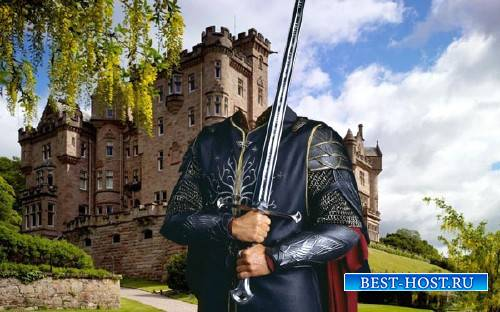 Шаблон для Photoshop - Рыцарь и меч