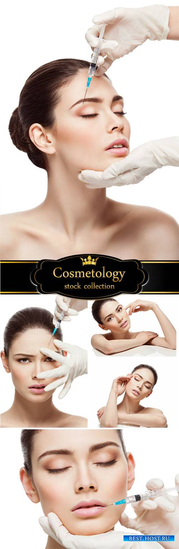 Beauty, botox - stock photos