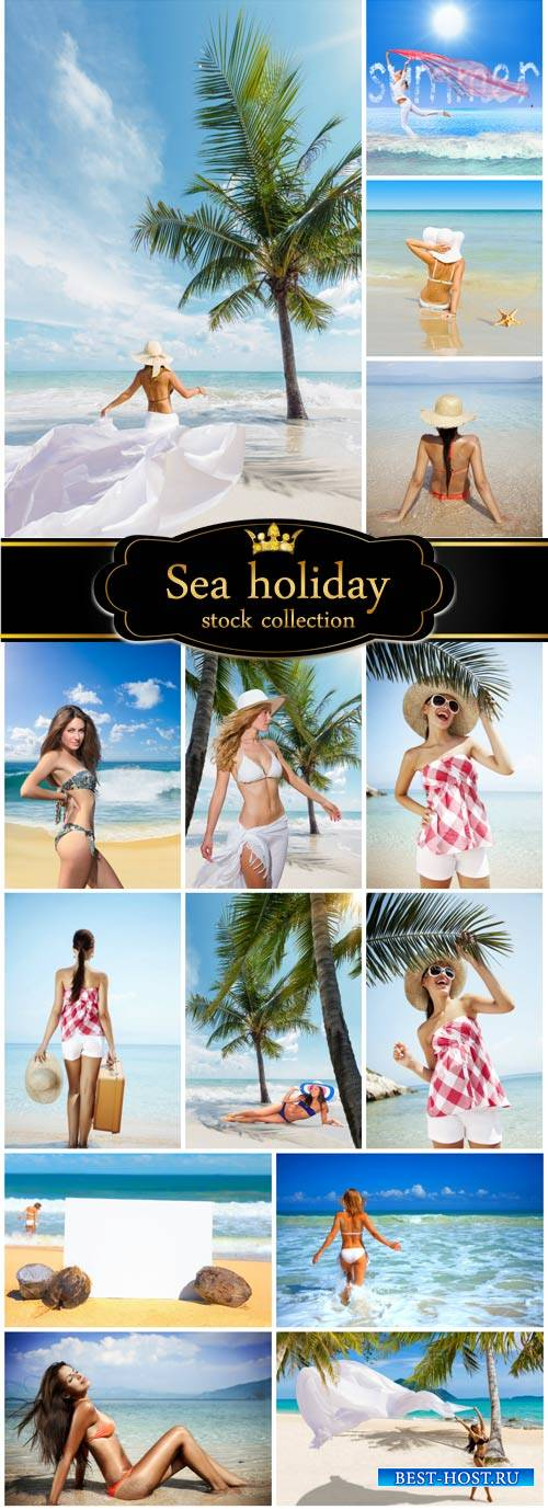 Leisure at sea, women - stock photos