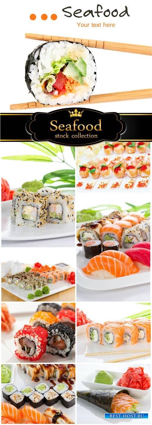 Sushi, Seafood - stock photos