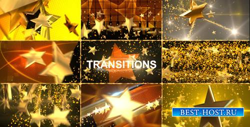 Gold Star Transitions Pack - Project for After Effects (Videohive)