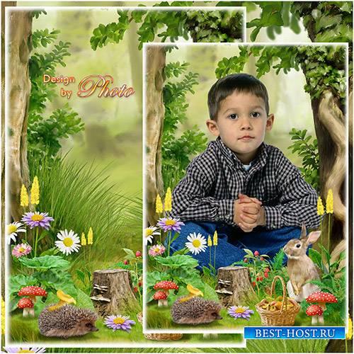Детская рамка-коллаж - Лесные приключения