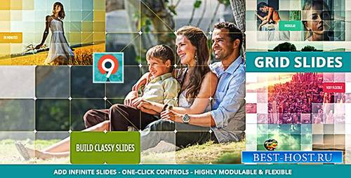 The Grid Slides Builder - Project for After Effects (Videohive)