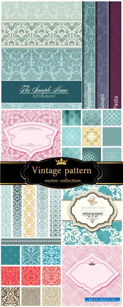 Vintage patterns, vector backgrounds, texture
