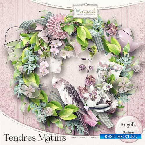 Романтический скрап-комплект - Tendres Matins