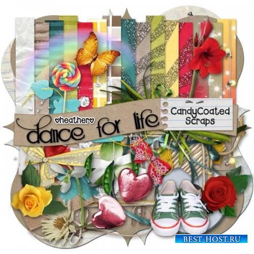 Интересный скрап-набор - танец это жизнь