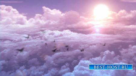 Футаж - Розовые облака