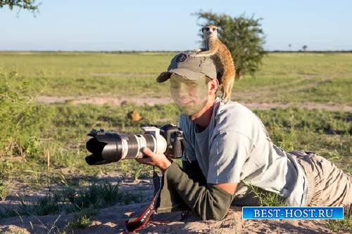 Photoshop шаблон - Внезапный друг