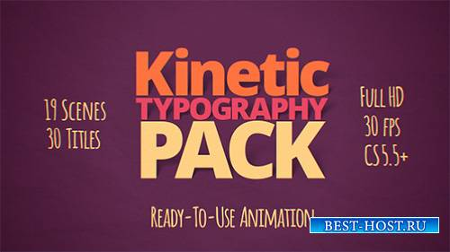Kinetic Typography Pack - Project for After Effects (Videohive)