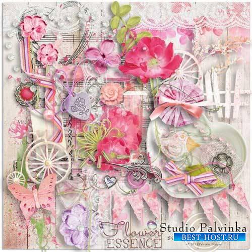 Цветочный скрап-комплект - Цветочная эссенция