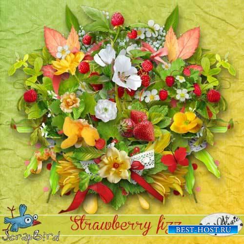 Яркий летний скрап-комплект - Strawberry fizz