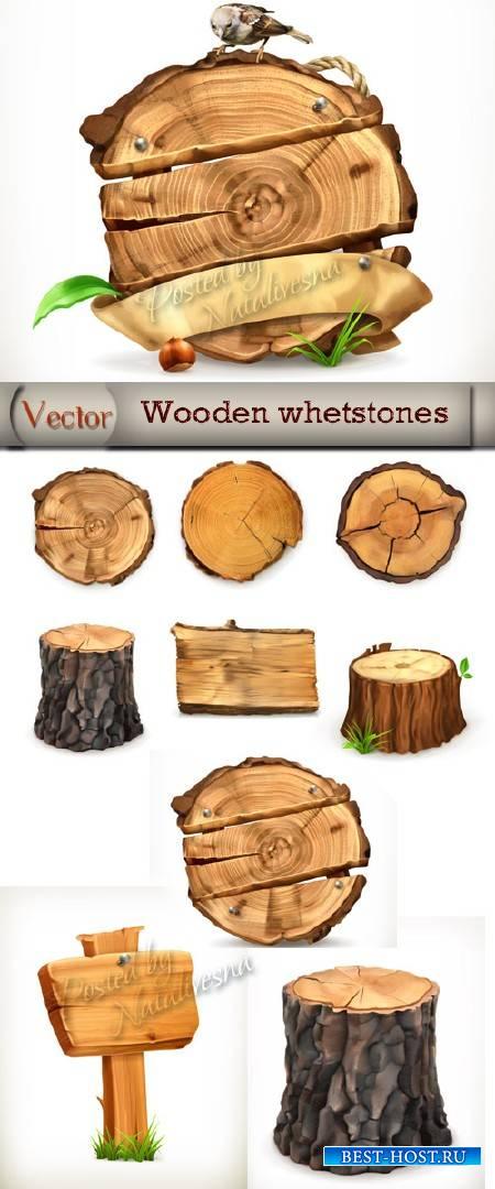 Дерево в разрезе и пенечки в Векторе