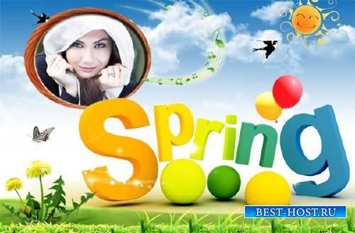 Рамка psd - Пришла весна