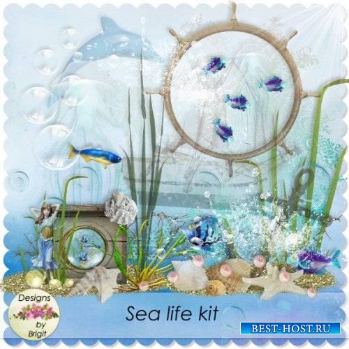 Морской скрап-комплект - Морская жизнь