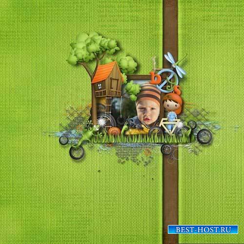 Детский скрап-комплект - Дворовые приключения