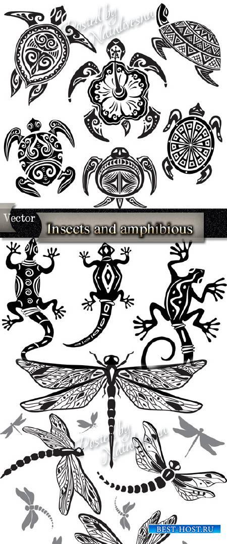 Насекомые и земноводные в Векторе