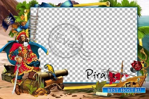 Детская рамочка для фото - Веселый пират