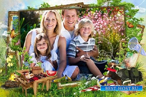 Фоторамка - На пикник всей семьей