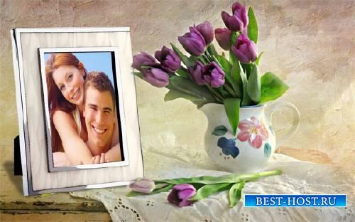 Рамка для фотографии - Весенние цветы