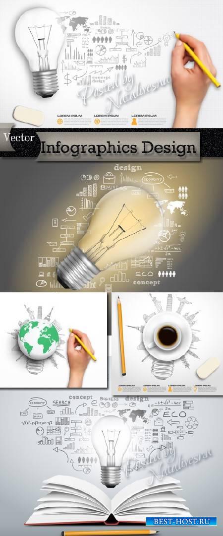 Infographics Design in Vector # 14
