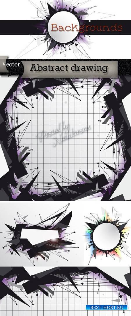 Креативные фоны в Векторе – Абстрактные иголки