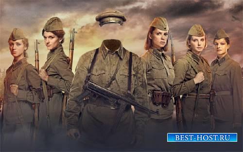 Шаблон для фотошопа - Форма солдата Второй мировой