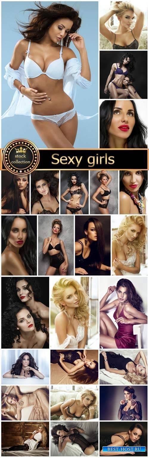 Sexy girls, beautiful women - Stock Photo