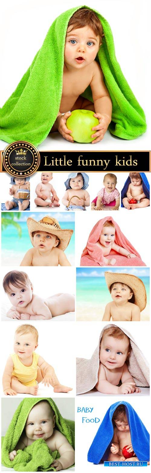 Little funny kids - stock photos