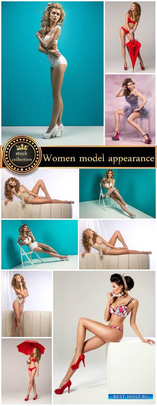 Women model appearance - stock photos