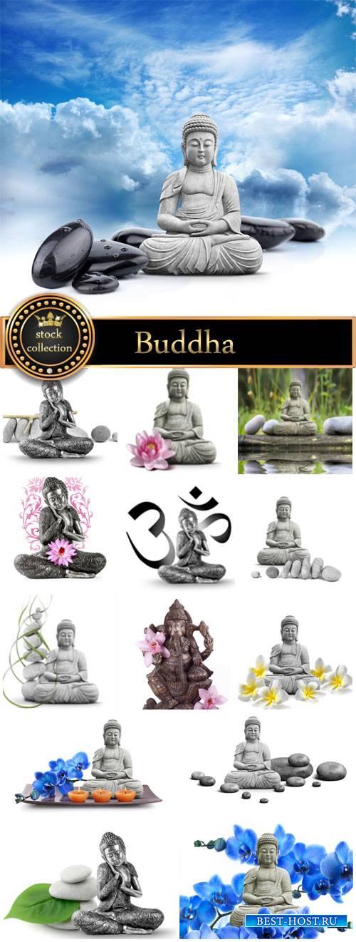 Buddha figure, deity - stock photos