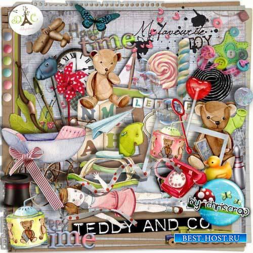 Детский скрап-комплект - Тедди и компания
